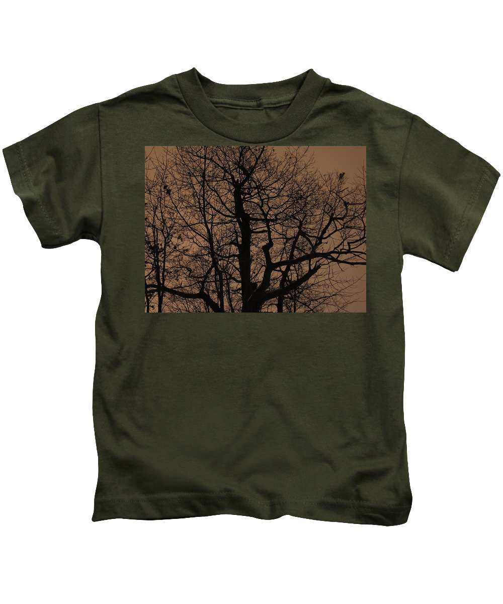 Oak Kids T-Shirt featuring the photograph Oak Silhouette by Tim Beebe