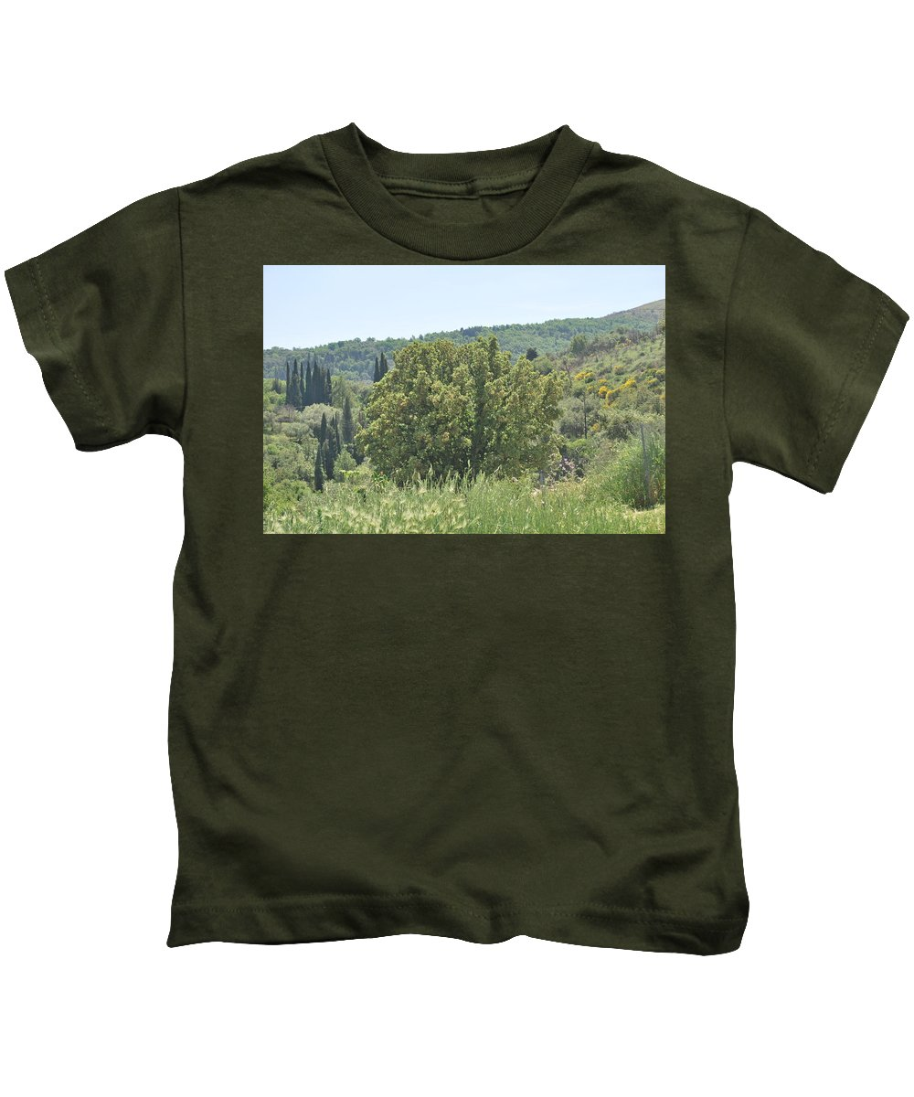 Oak Tree Kids T-Shirt featuring the photograph Oak Tree by George Katechis