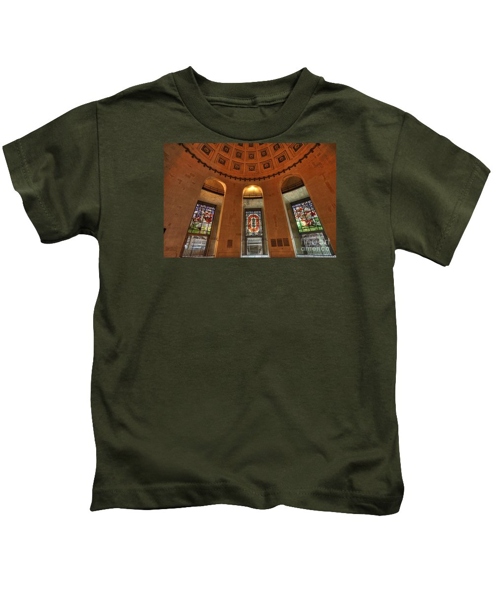 The Ohio State University Kids T-Shirt featuring the photograph Ohio Stadium by David Bearden