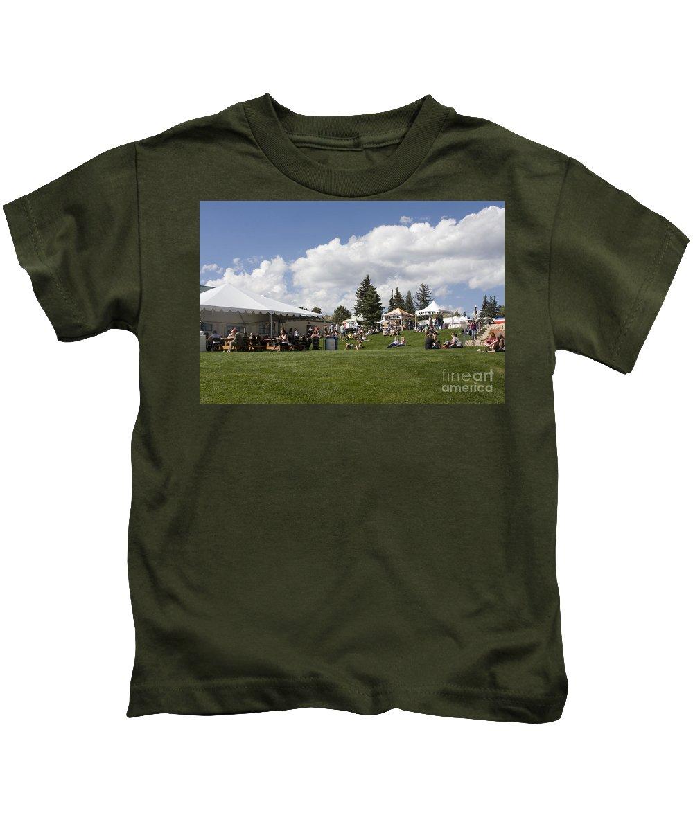 Oktoberfest Kids T-Shirt featuring the photograph Oktoberfest Woodland Park 2014 by Steve Krull
