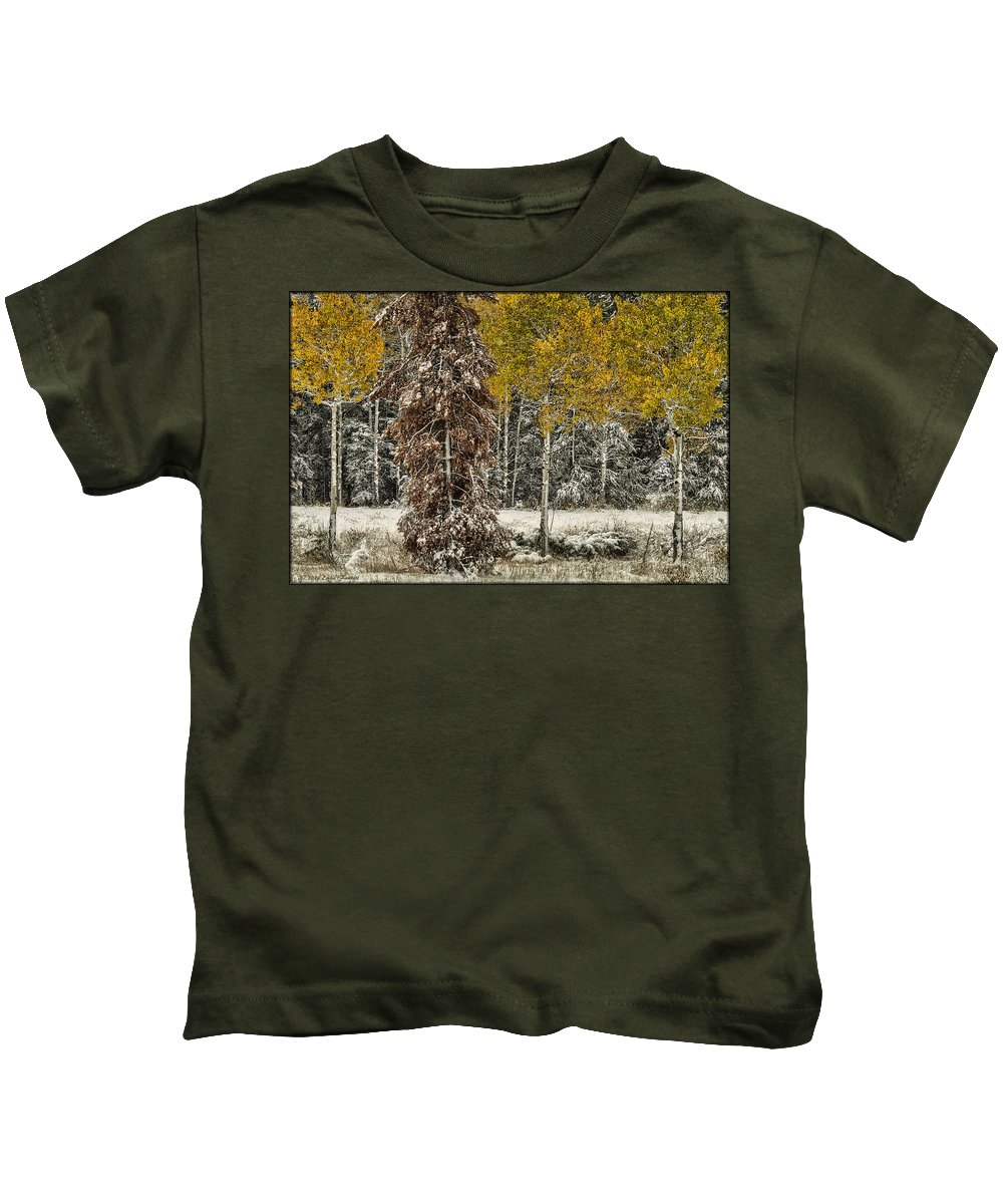 Trees Kids T-Shirt featuring the photograph Old And New by Erika Fawcett