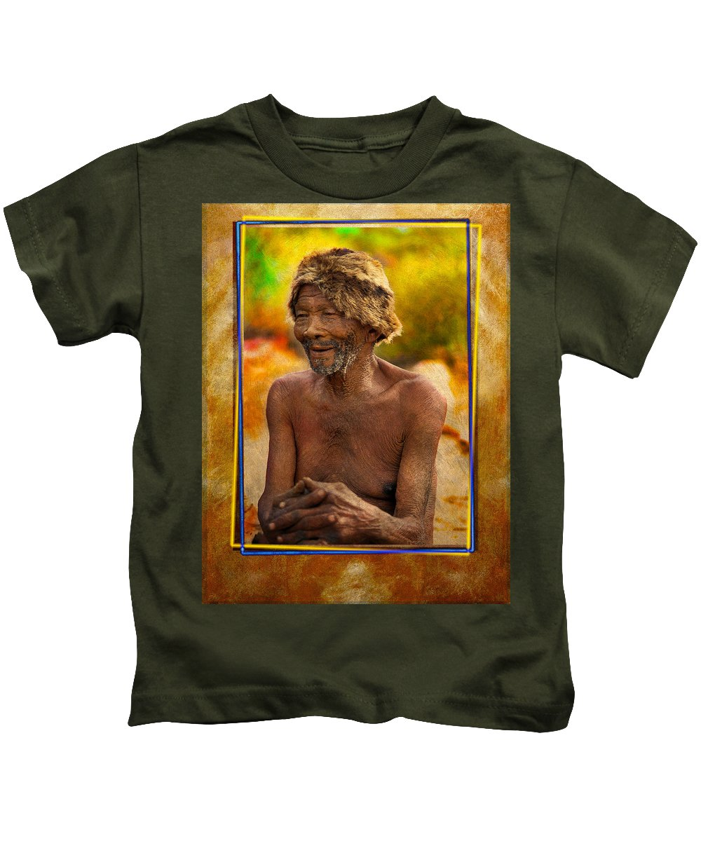 Bushman Kids T-Shirt featuring the photograph Old Bushman by Mauro Celotti