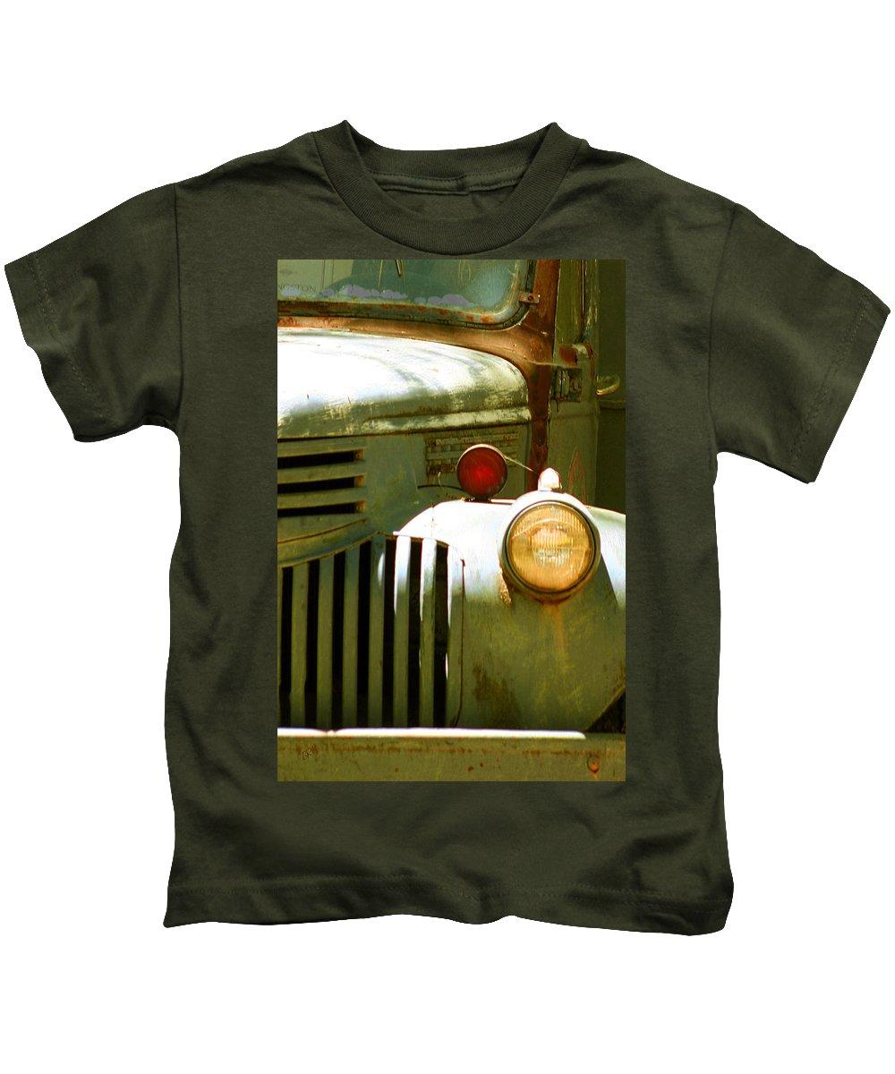 Junker Kids T-Shirt featuring the photograph Old Truck Abstract by Ben and Raisa Gertsberg