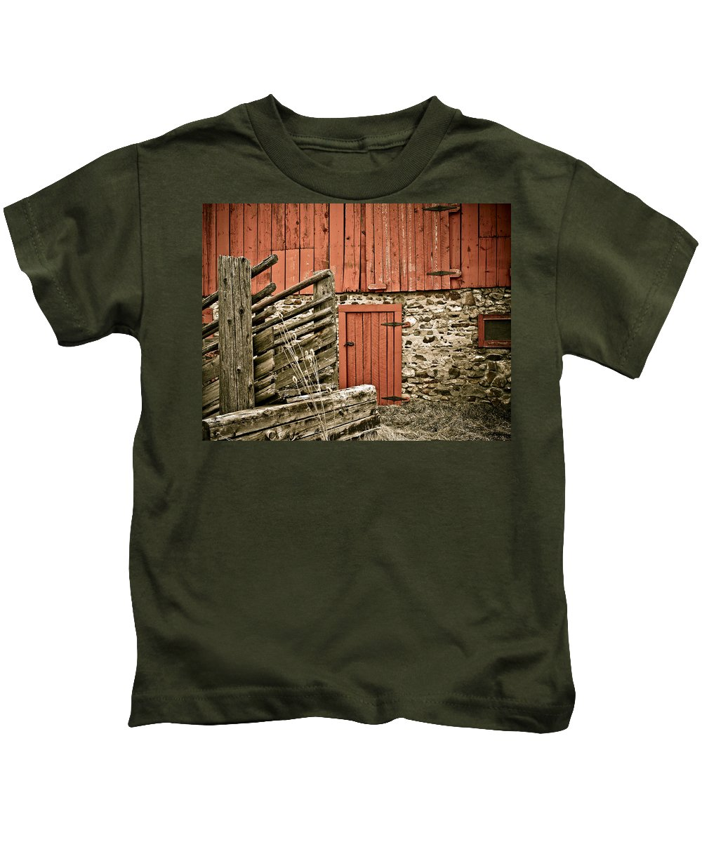 Old Kids T-Shirt featuring the photograph Old Wood by Marilyn Hunt
