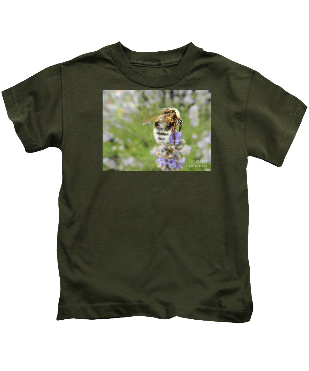 Nature Kids T-Shirt featuring the photograph On The Top by Loreta Mickiene