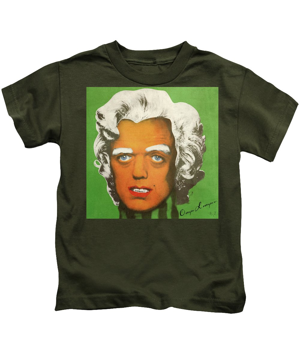 Oompa Kids T-Shirt featuring the digital art Oompa Loompa White by Filippo B