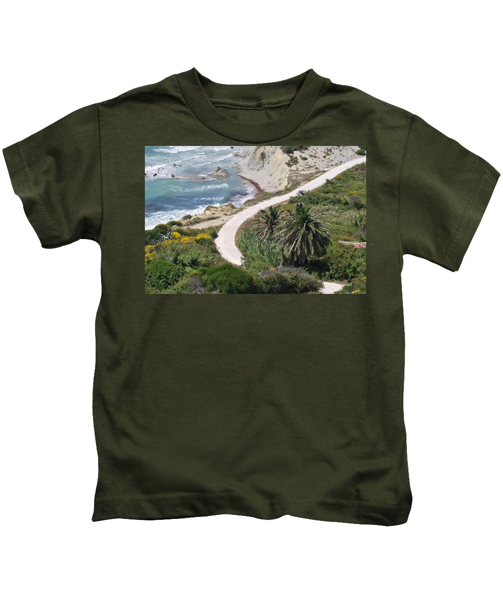 Palm Trees Kids T-Shirt featuring the photograph Palm Trees 2 by George Katechis