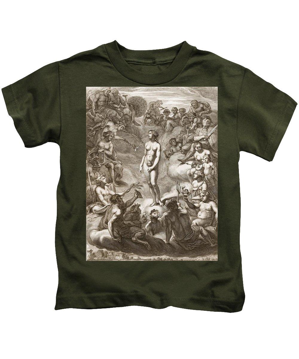 Pandora Kids T-Shirt featuring the drawing Pandoras Box by Bernard Picart