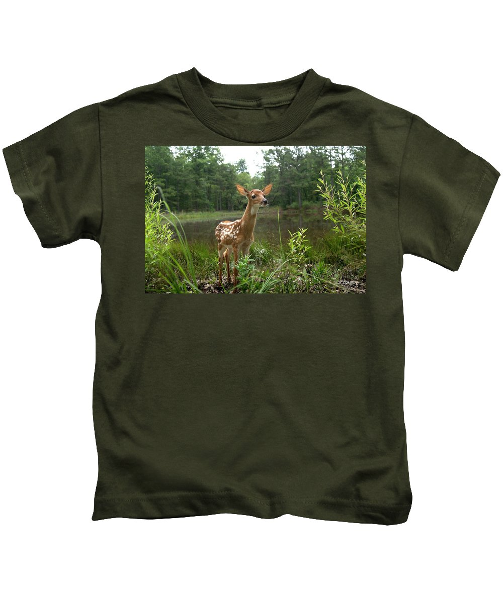 Deer Kids T-Shirt featuring the photograph Paradise Found by Bill Stephens
