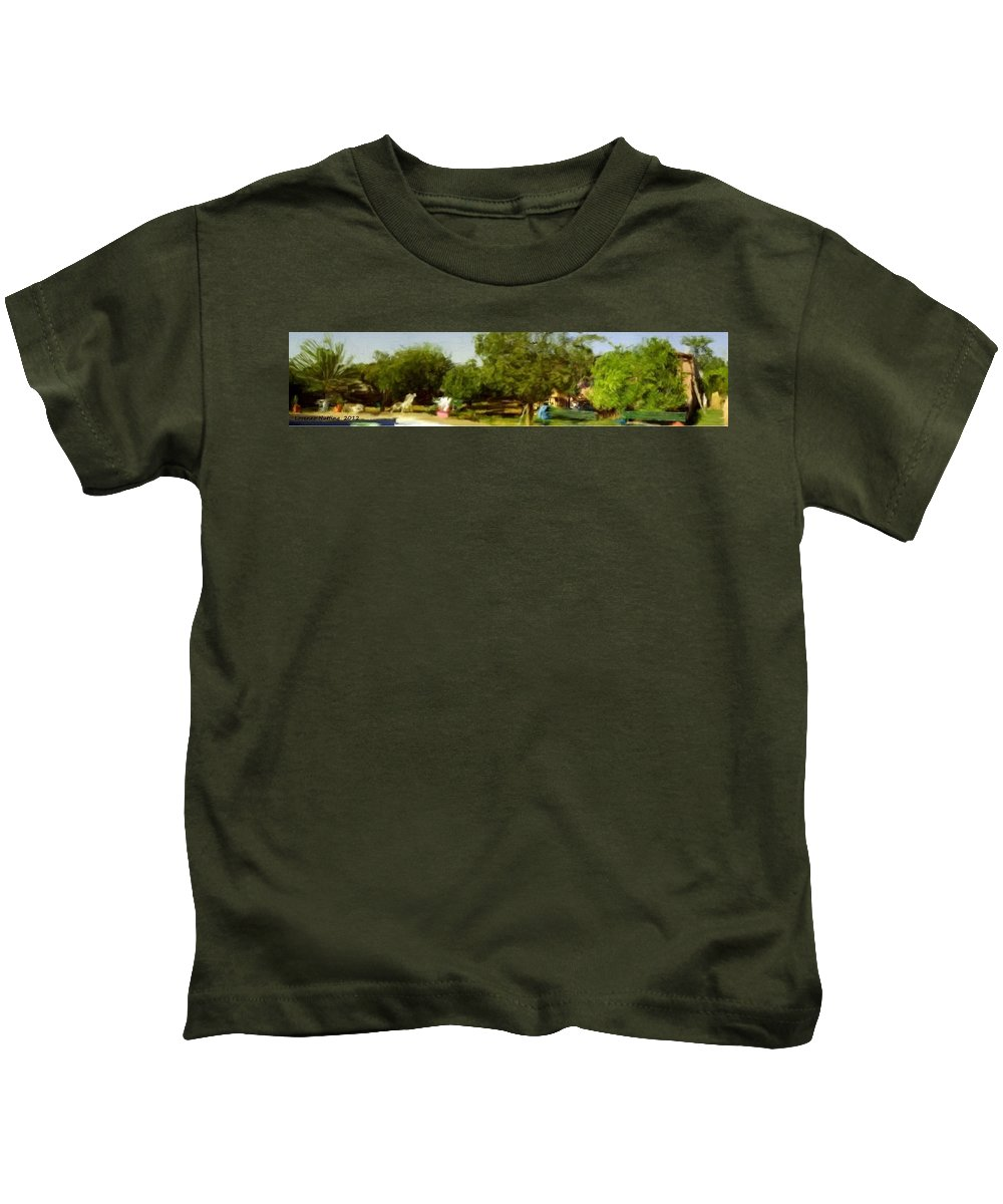 Ecija Kids T-Shirt featuring the painting Paradise In Ecija Spain by Bruce Nutting