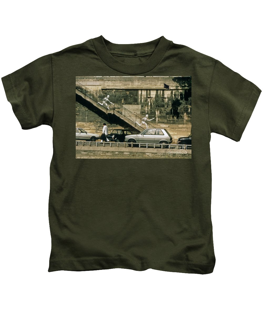 Paris Kids T-Shirt featuring the photograph Paris Wall by Thomas Marchessault