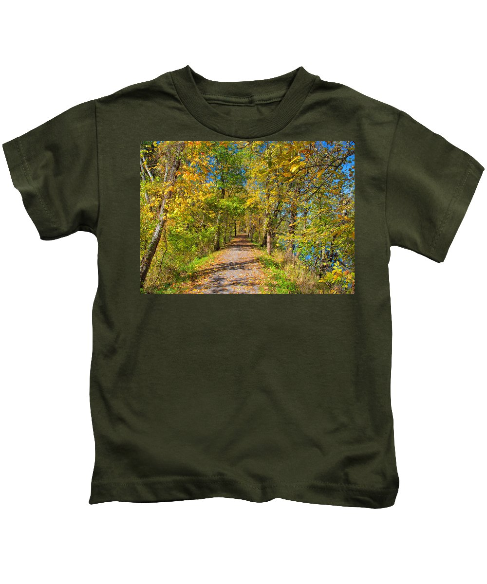 Sky Kids T-Shirt featuring the photograph Pathway Along The Ohio And Erie Canal by John M Bailey