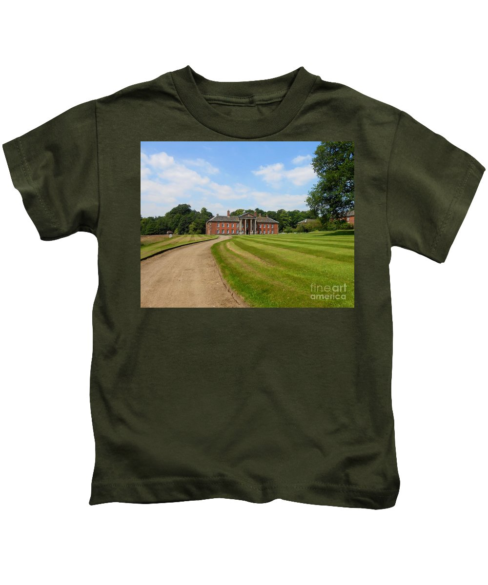 Path Kids T-Shirt featuring the photograph Pathway To Adlington Hall by Joan-Violet Stretch
