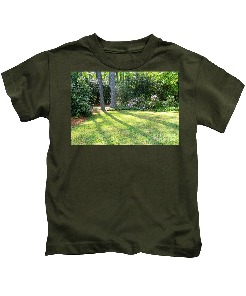 Red Kids T-Shirt featuring the photograph Peace by Andrea Anderegg