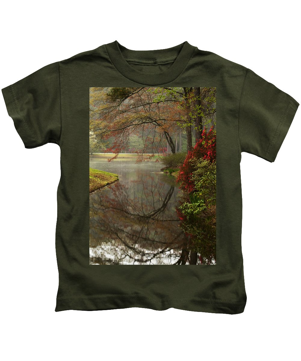 Callaway Kids T-Shirt featuring the photograph Peace In A Garden by Kathy Clark