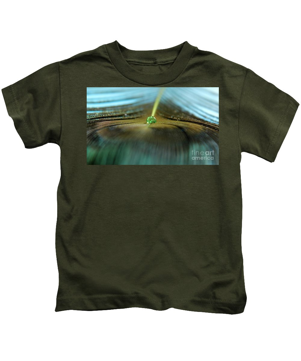 Peacock Kids T-Shirt featuring the photograph Peacock Falls by Krissy Katsimbras