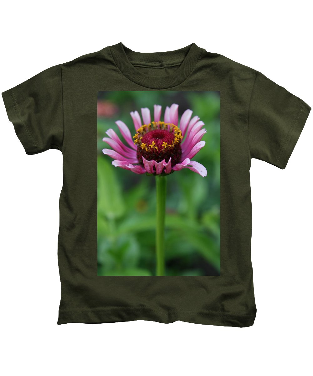 Pink Kids T-Shirt featuring the photograph Perfect Posture by Neal Eslinger