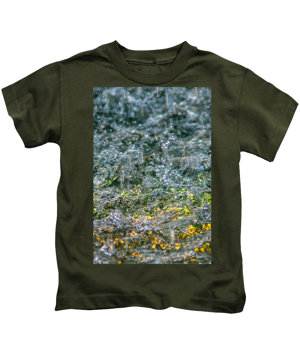 Abstract Kids T-Shirt featuring the photograph Phone Case - Liquid Flame - Yellow 2 by Alexander Senin