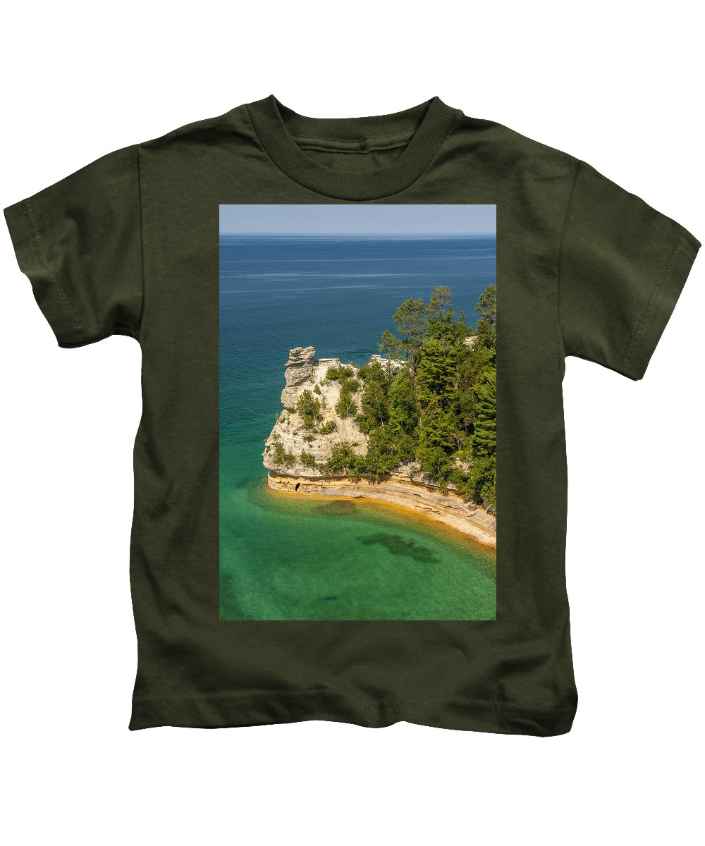 Pictured Rocks National Lakeshore Kids T-Shirt featuring the photograph Pictured Rocks National Lakeshore by Sebastian Musial