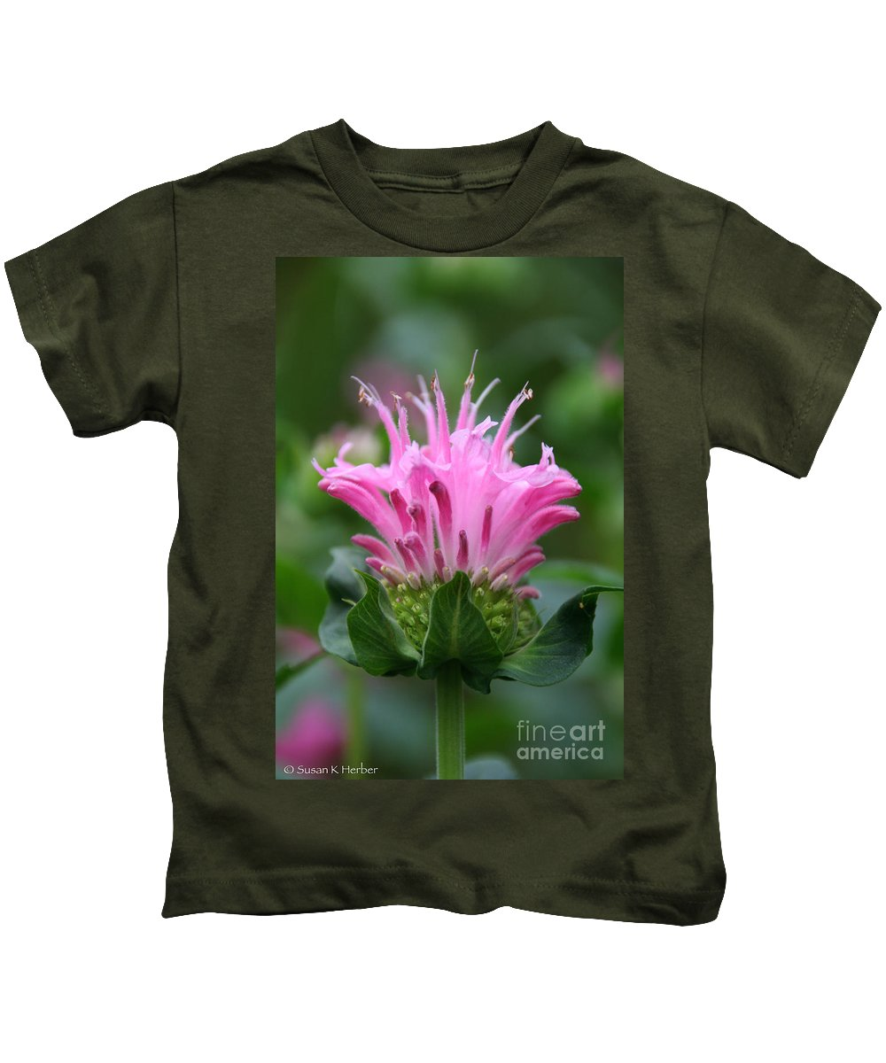 Flower Kids T-Shirt featuring the photograph Pink July by Susan Herber