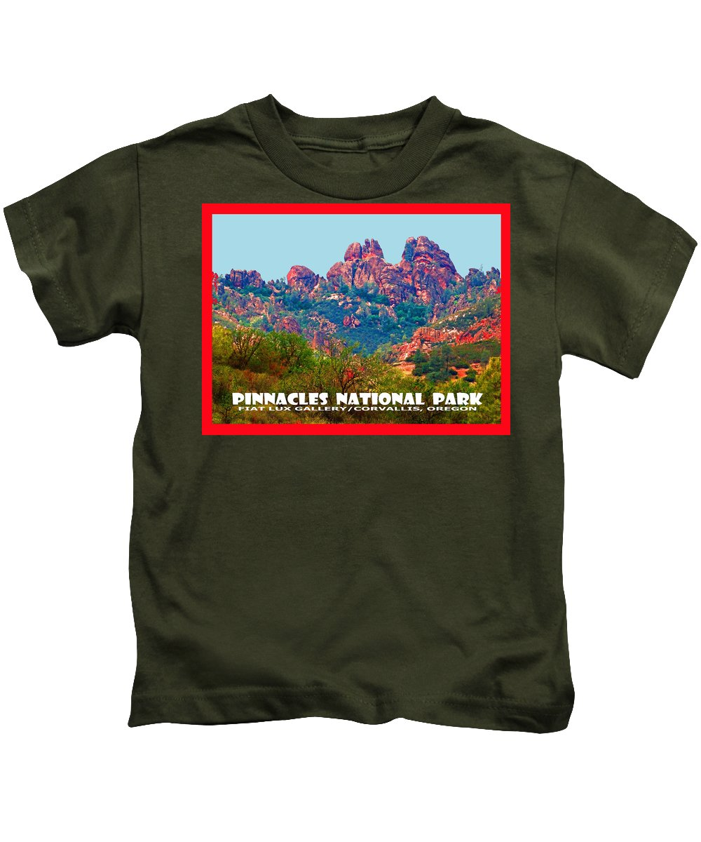Pinnacles National Park. National Parks. Travel Posters. California. American West. Kids T-Shirt featuring the photograph Pinnacles National Park II by Michael Moore