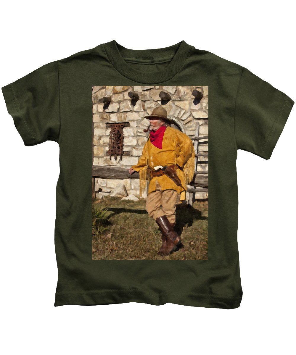 Cowboy Kids T-Shirt featuring the digital art Pipe Dream by Jack Milchanowski