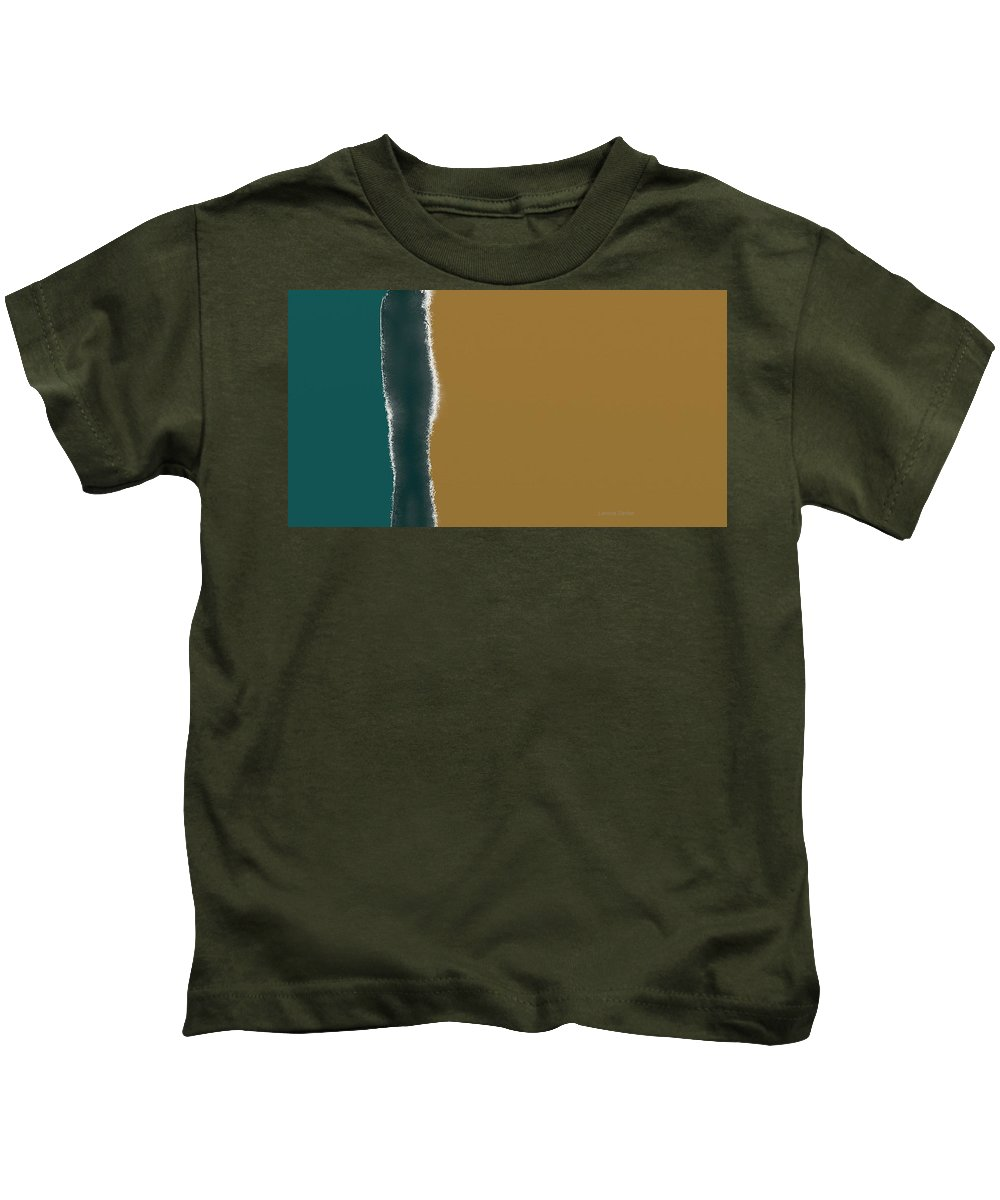 Abstract Kids T-Shirt featuring the painting Plain And Simple by Lenore Senior