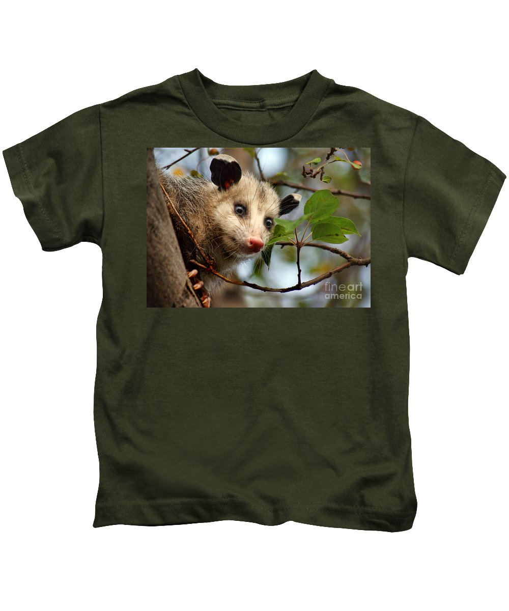 Animals Kids T-Shirt featuring the photograph Playing Possum by Nikolyn McDonald