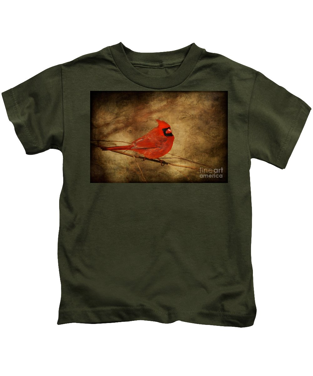 Bird Kids T-Shirt featuring the photograph Please Feed The Birds by Lois Bryan