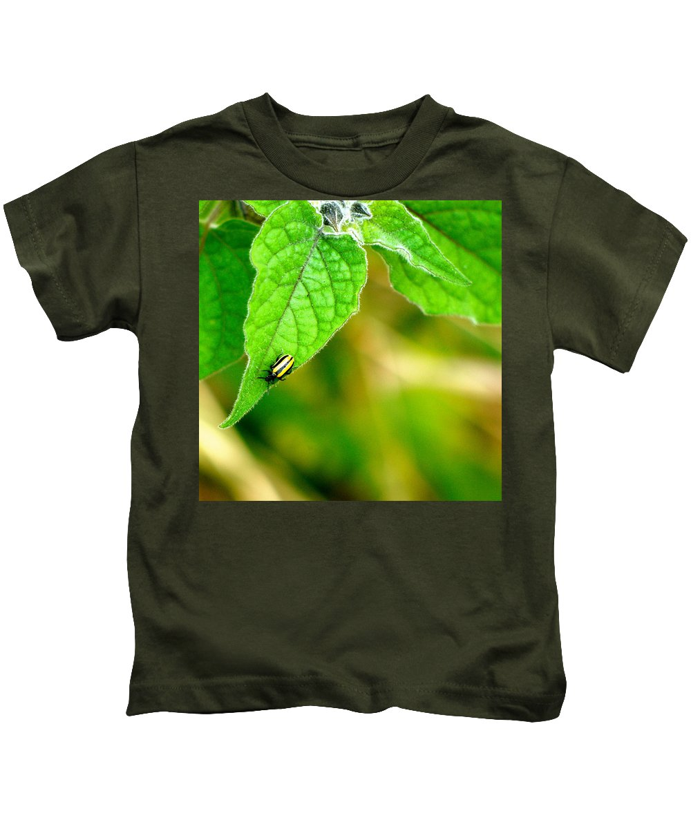 Bettle Kids T-Shirt featuring the photograph Poha Berry Beetle by Lehua Pekelo-Stearns