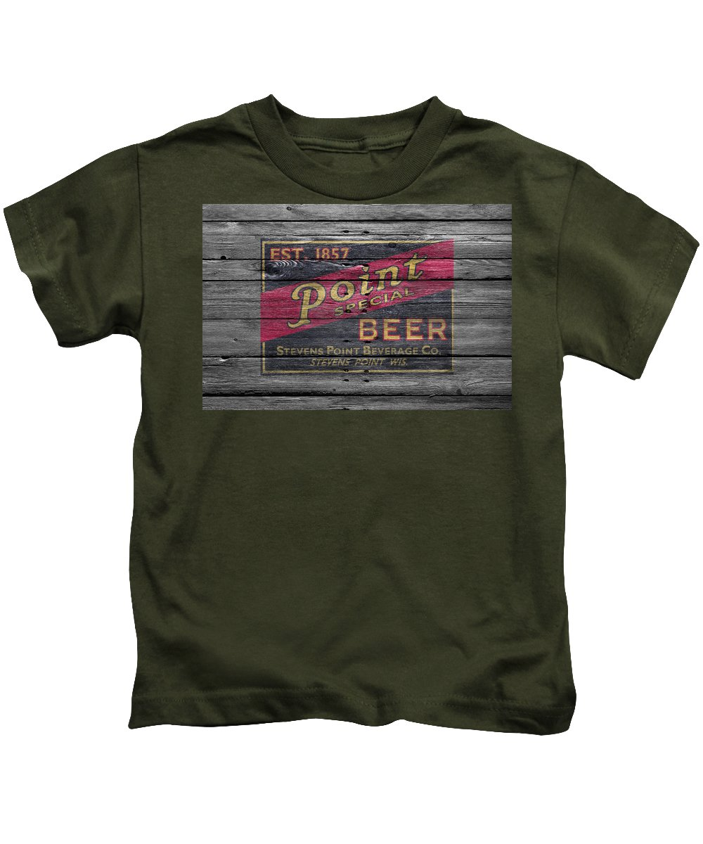 Point Special Kids T-Shirt featuring the photograph Point Special Beer by Joe Hamilton