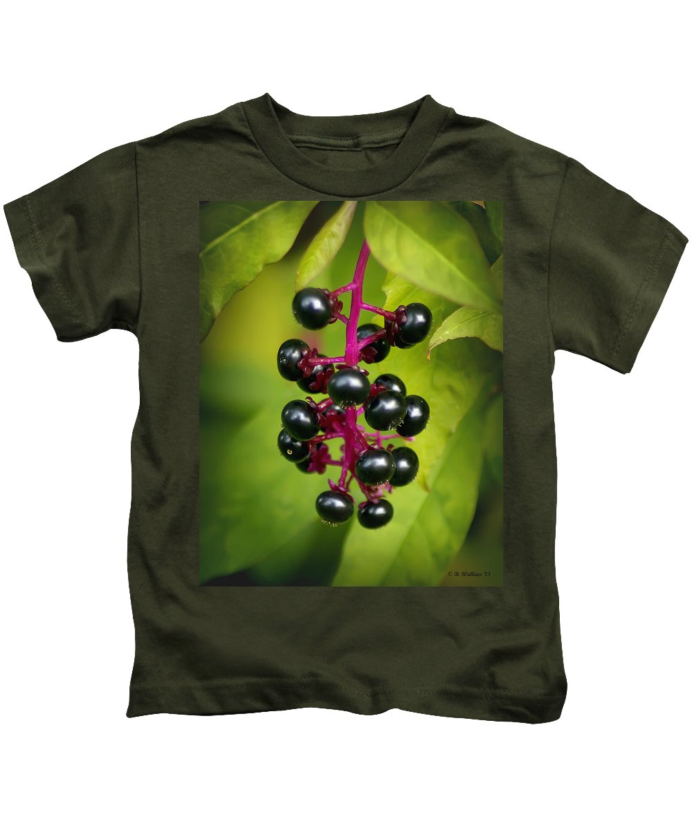 2d Kids T-Shirt featuring the photograph Pokeweed by Brian Wallace