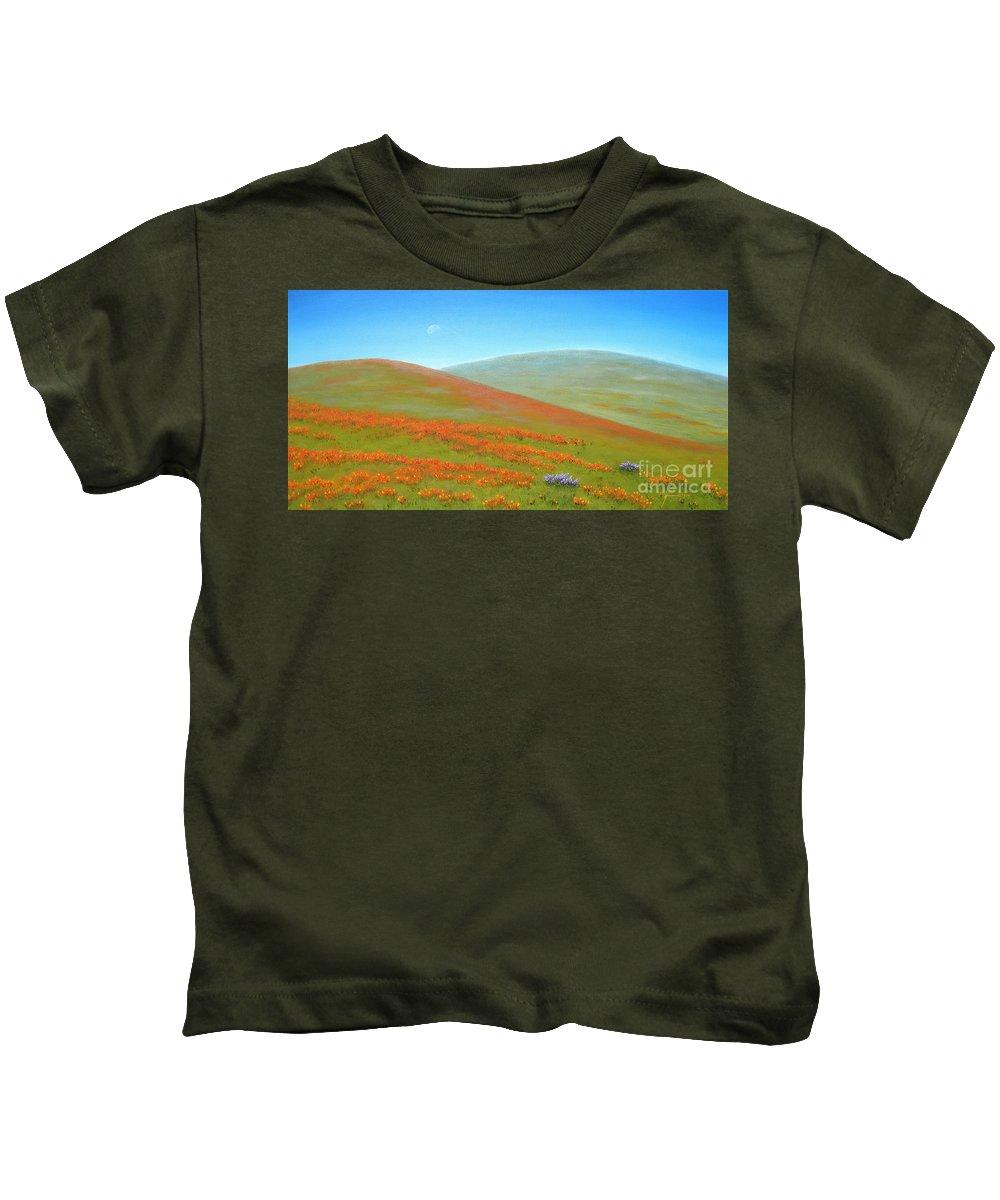 Poppy Kids T-Shirt featuring the painting Poppy Fields by Jerome Stumphauzer