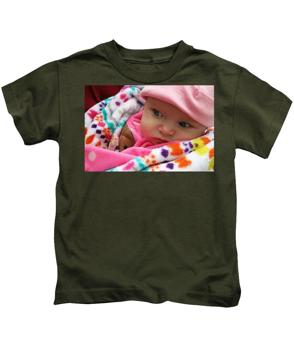 Jamie Lynn Gabrich Kids T-Shirt featuring the photograph Presious Baby by Jamie Lynn