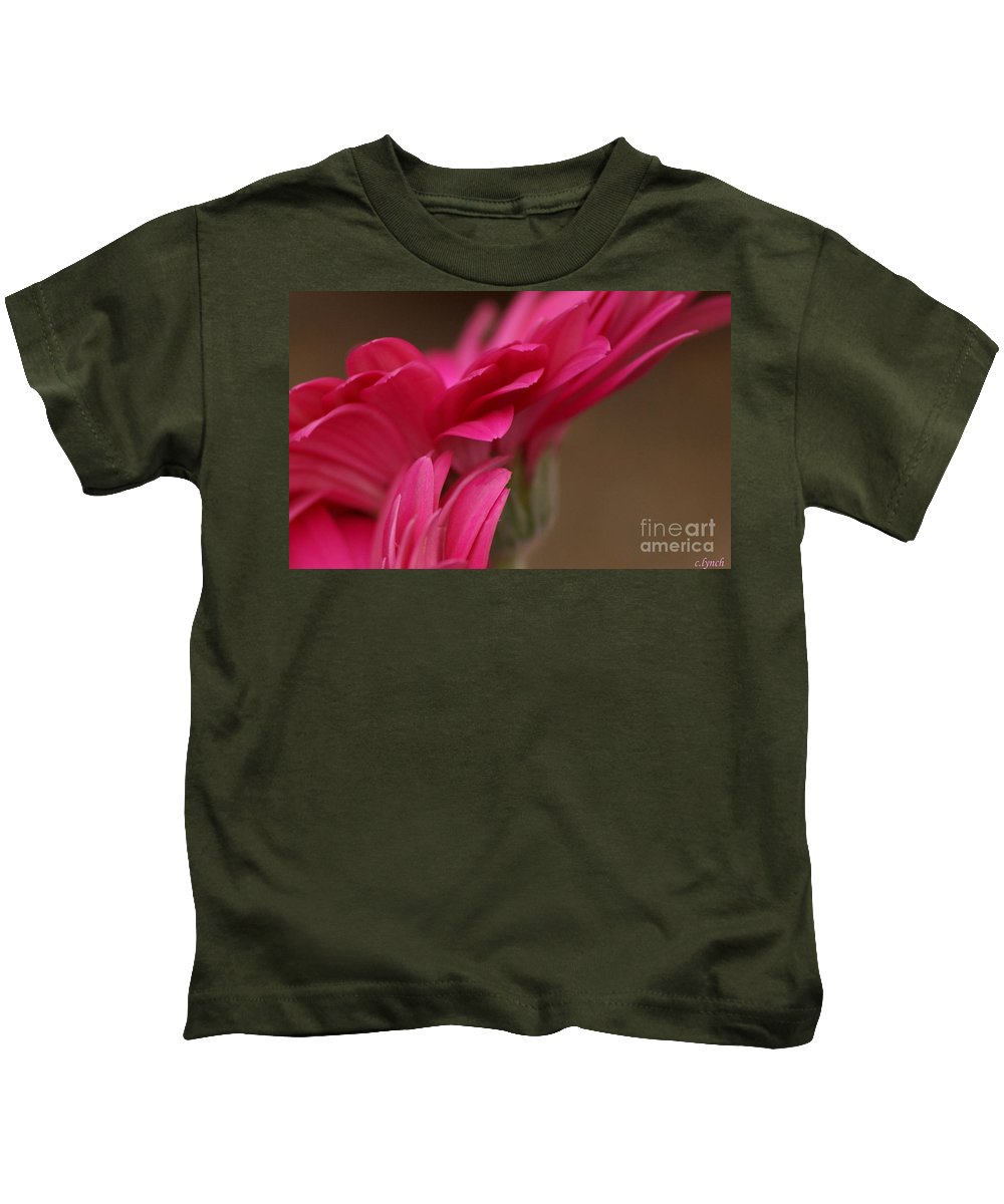 Pink Kids T-Shirt featuring the photograph Pretty Petals by Carol Lynch