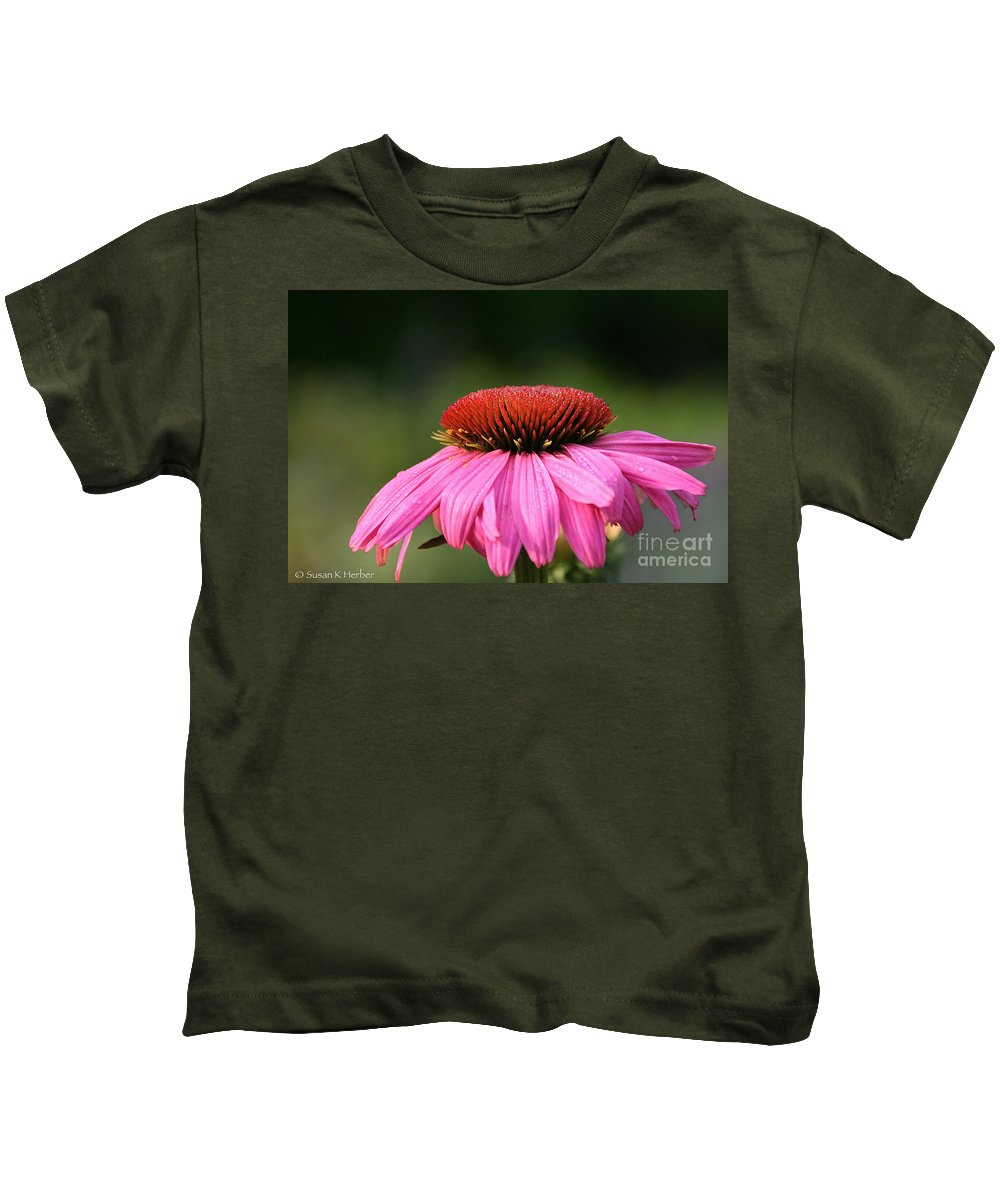 Flower Kids T-Shirt featuring the photograph Profiling Echinacea by Susan Herber