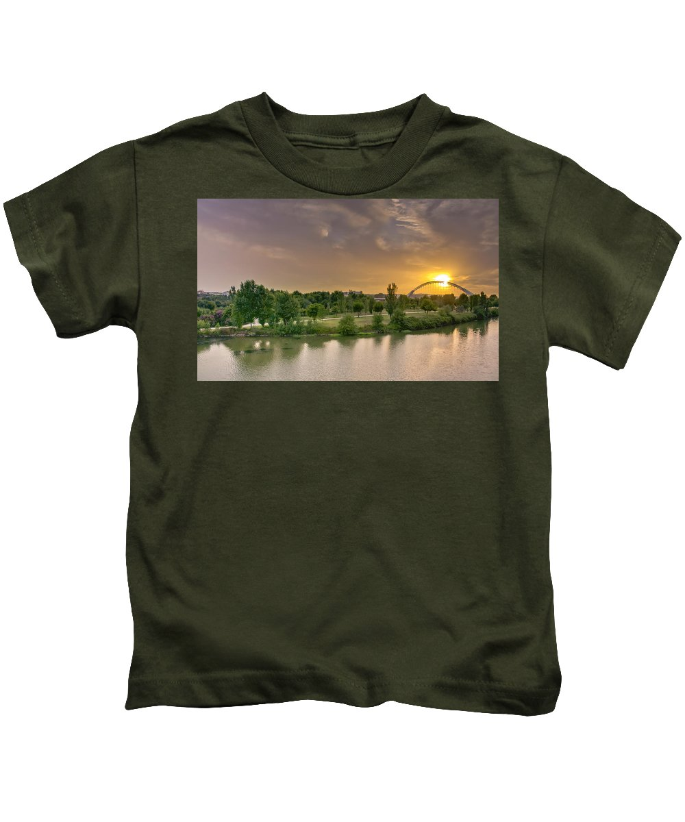 Merida Kids T-Shirt featuring the photograph Puente De Lusitania by Pablo Lopez