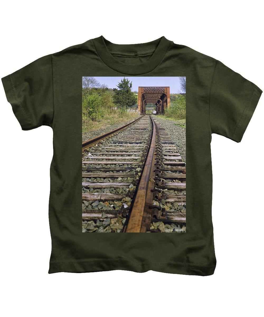 Bridge Kids T-Shirt featuring the photograph Railroad Bridge by Fran Gallogly