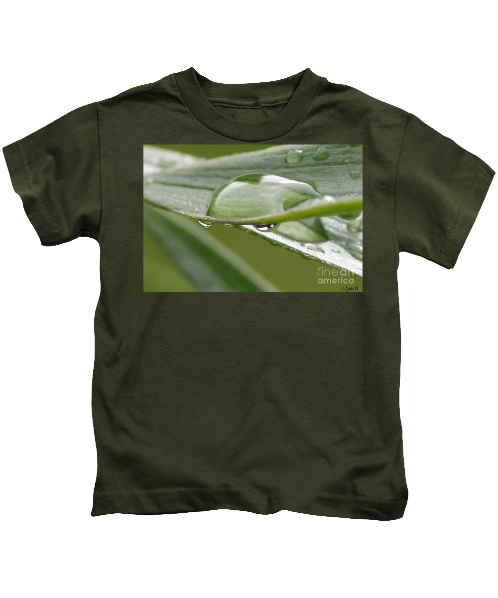 Raindrop Kids T-Shirt featuring the photograph Raindrops by Carol Lynch