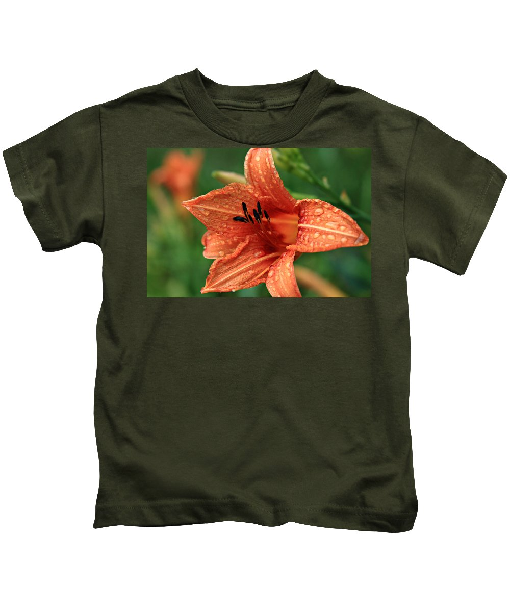 Flowers Kids T-Shirt featuring the photograph Rainy Day by Reid Callaway