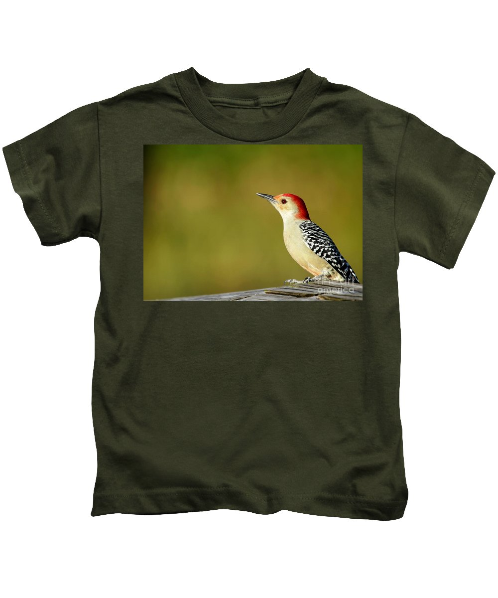 American Kids T-Shirt featuring the photograph Red Bellied Woodpecker by Sabrina L Ryan