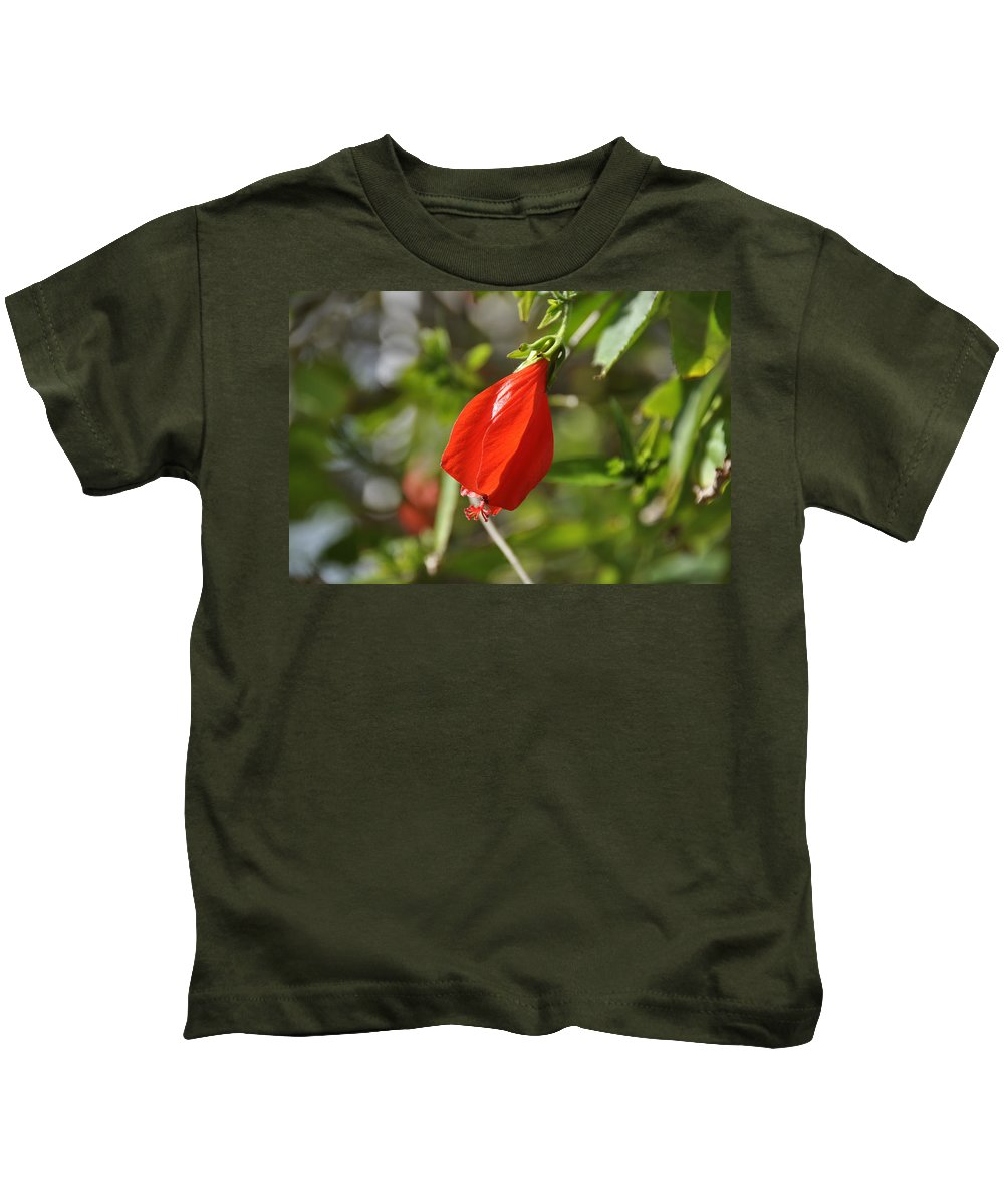 Flower Kids T-Shirt featuring the photograph Red Hibiscus by Rich Bodane