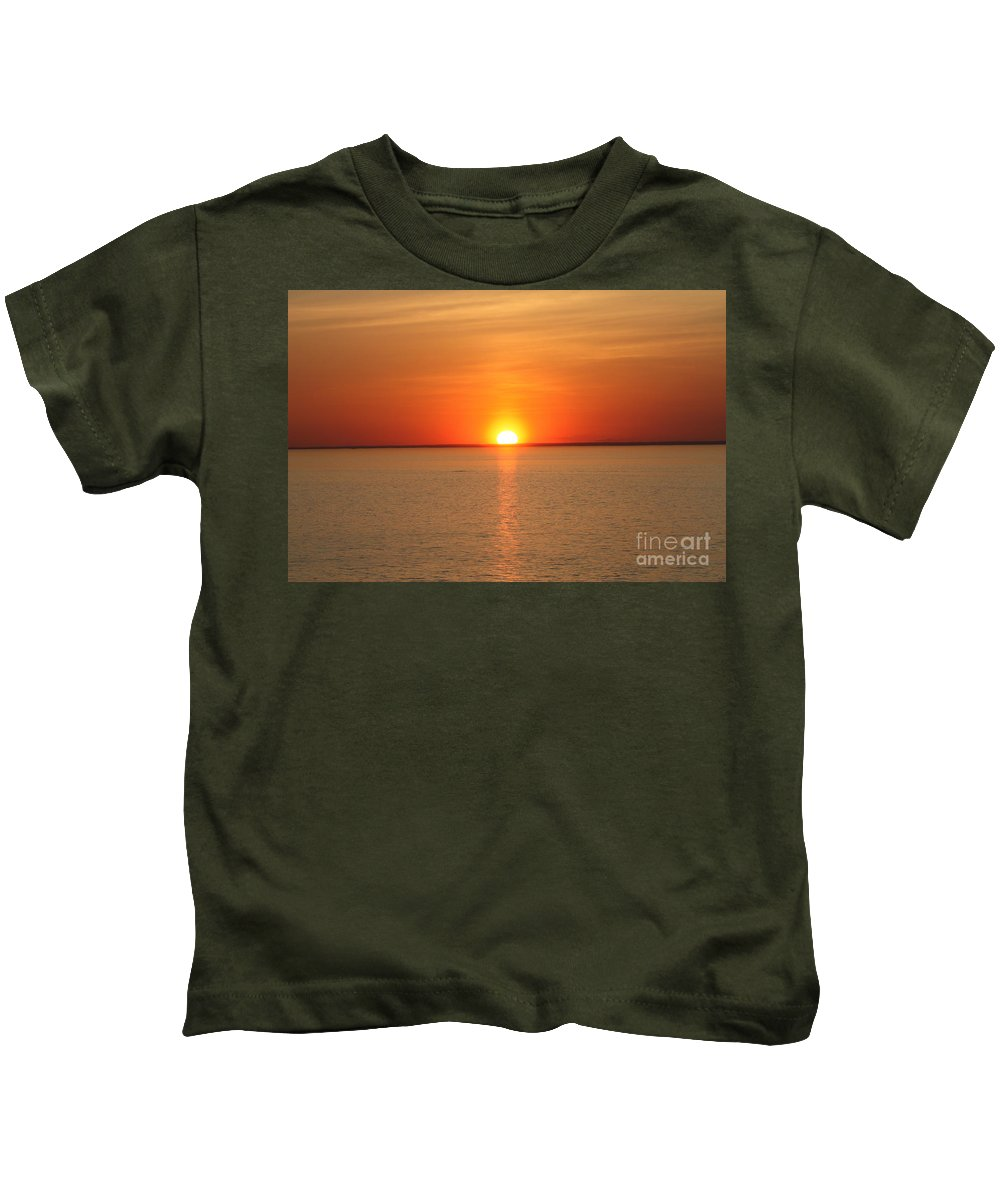 Red Hot Sunset Kids T-Shirt featuring the photograph Red-hot Sunset by John Telfer