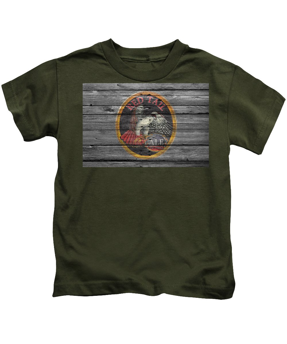 Red Tail Kids T-Shirt featuring the photograph Red Tail by Joe Hamilton