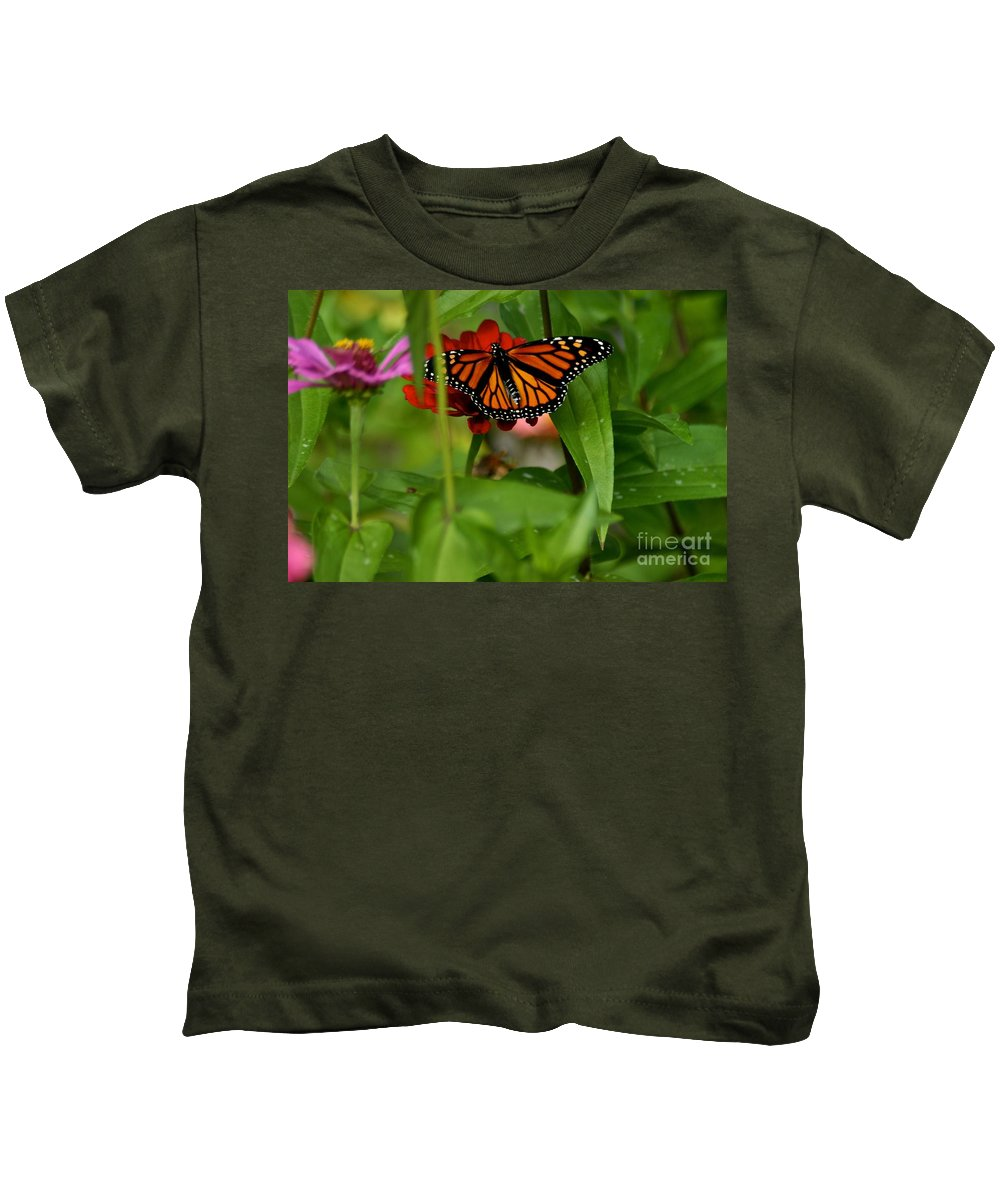 Butterfly Kids T-Shirt featuring the photograph Regular Visitor by Joseph Yarbrough
