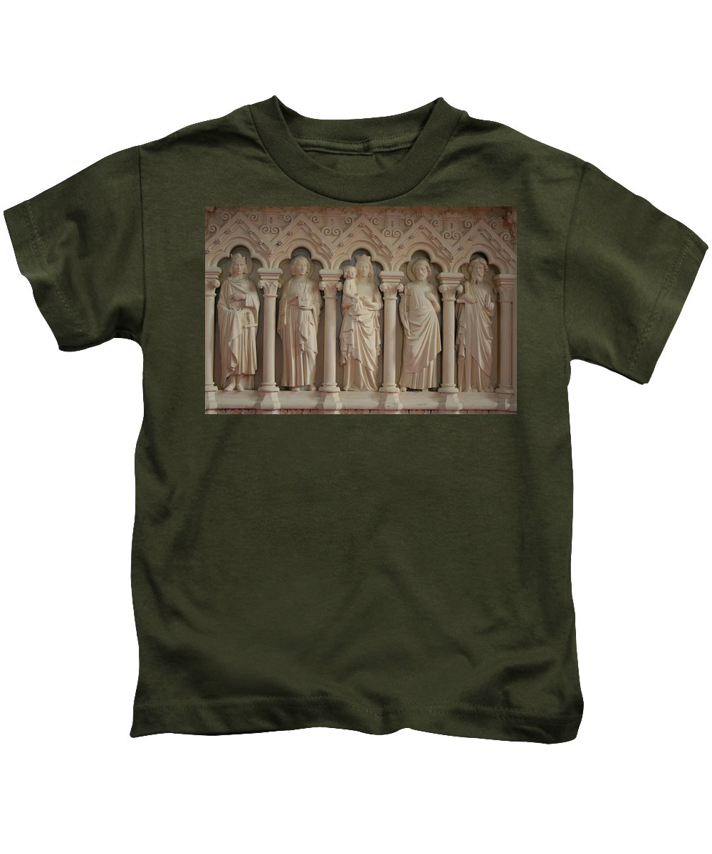 Relief Kids T-Shirt featuring the photograph Religious Relief by Christiane Schulze Art And Photography