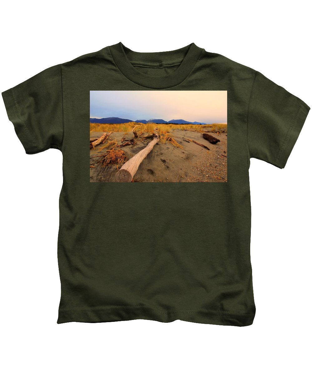 Beach Kids T-Shirt featuring the photograph Remote New Zealand Beach by Amanda Stadther