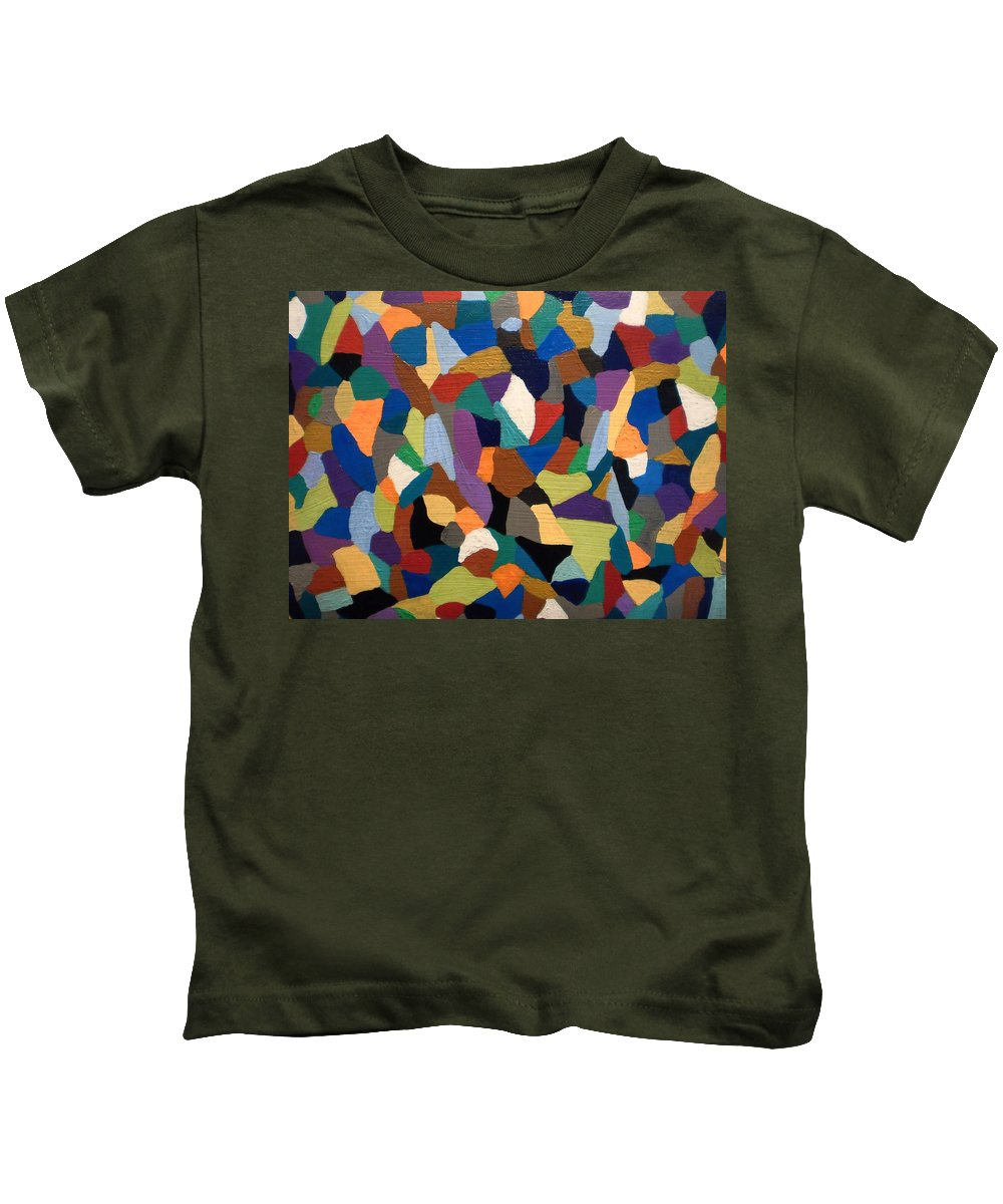 Abstraction Art Kids T-Shirt featuring the painting Rendez Vous by Cat Fish