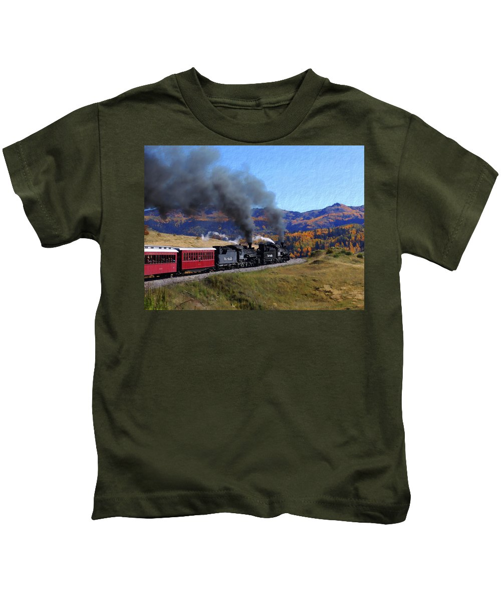Railroad Kids T-Shirt featuring the photograph Rio Grande 488 And 489 by Kurt Van Wagner