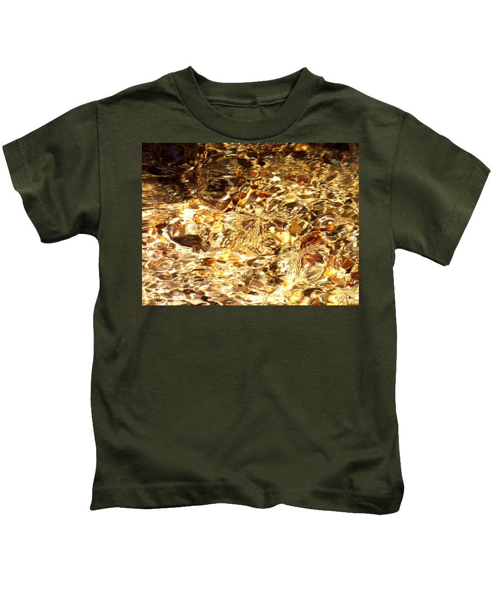 Water Kids T-Shirt featuring the photograph Rippling Water by Rebecca Malo
